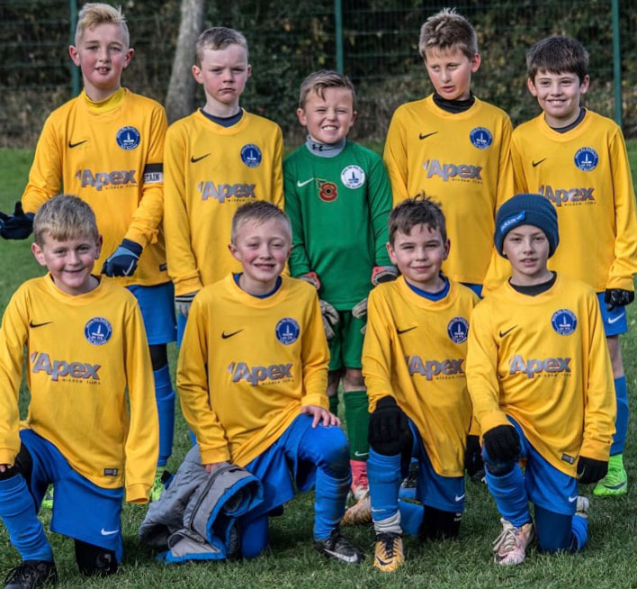 under 9 Whitley Bay sporting club team