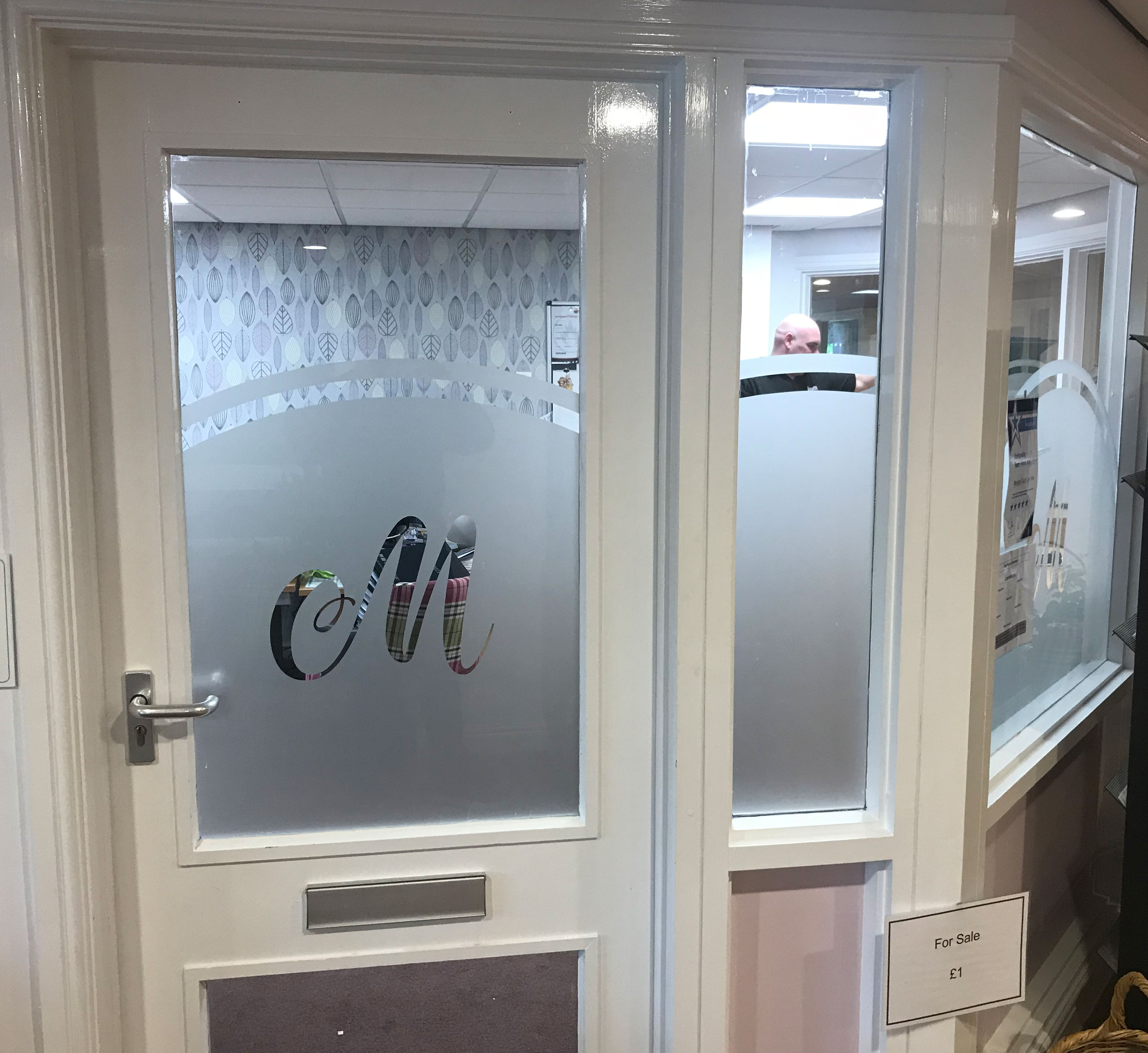 2. Marigold care home Gateshead fitted with frosted vinyl design
