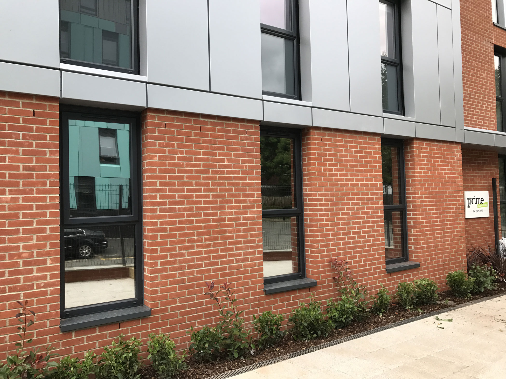 Reflective film fitted at Formula One student accommodation Newcastle