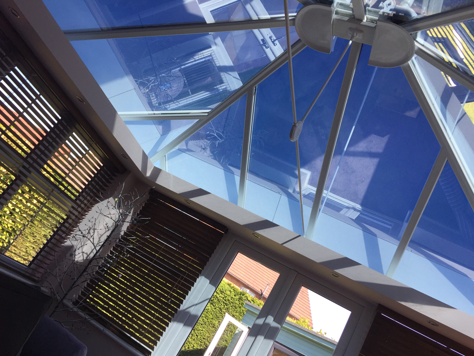 conservatory roof fitted with reflective film