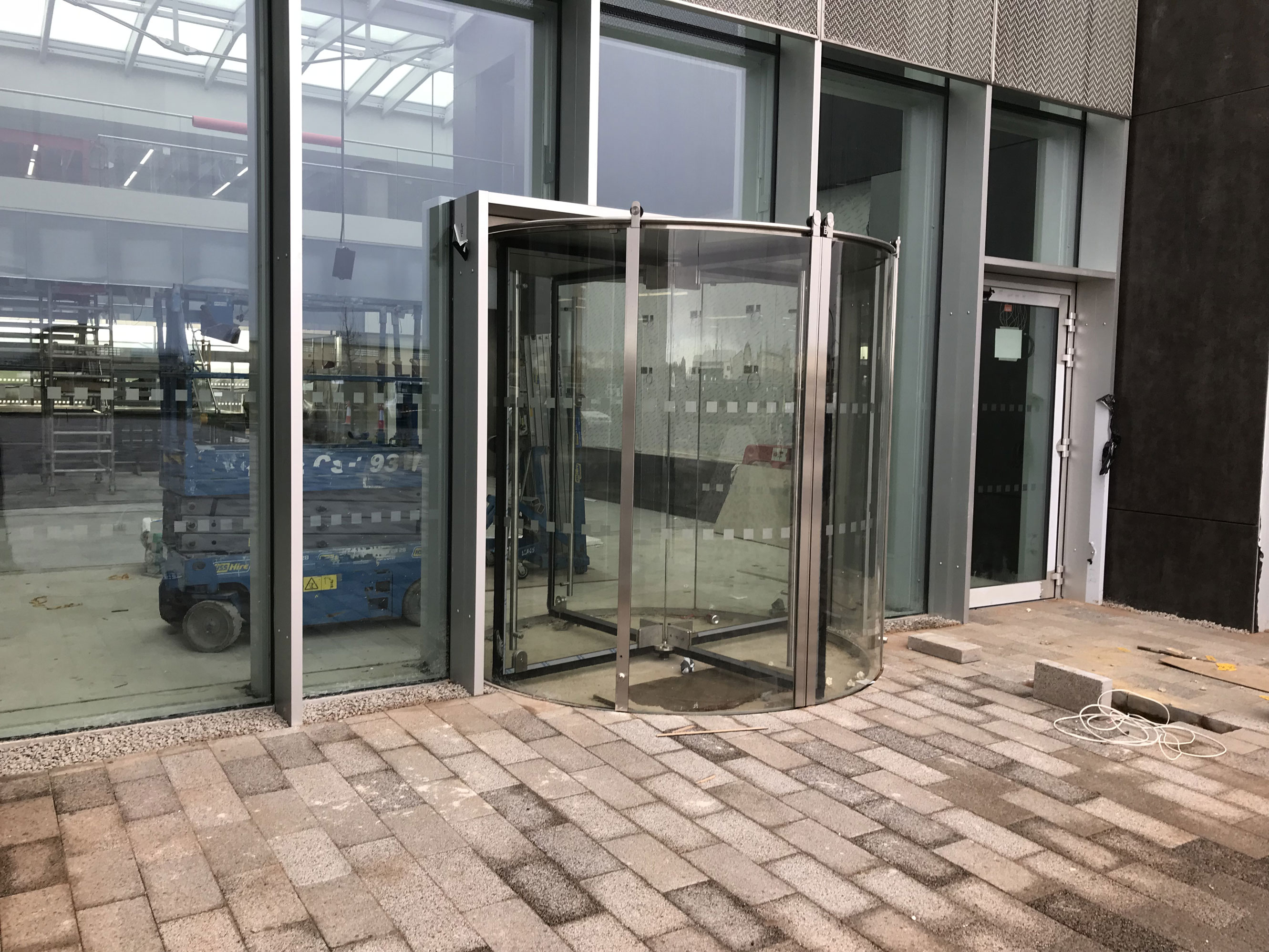 1. Manifestation fitted to site windows for Mcalpines & CEF Durham